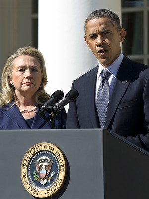 Hillary Clinton e Barack Obama (Foto: AP Photo/Manuel Balce Ceneta)