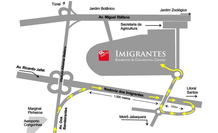 Confira como chegar no X5 Mega Arena (Foto: imigrantesexpo.com.br)