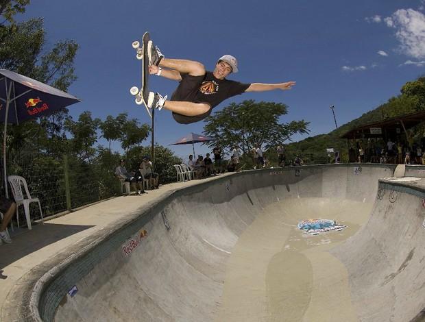 Pedro Barros no campenato de skate em sua casa, em Florianópolis (Foto: Red Bull)