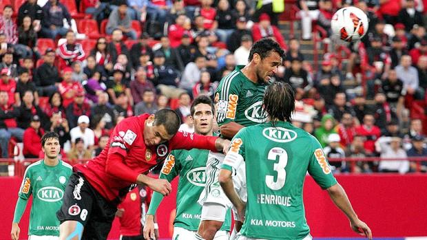 Charles jogo Palmeiras Tijuana Libertadores (Foto: EFE)