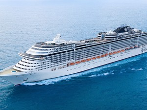O mais novo navio da MSC é o MSC Preziosa, com capacidade para 4.345 hóspedes e 1.388 tripulantes. O cruzeiro chega ao Brasil no dia 26 de novembro, no Porto de Santos, passará pelo Nordeste e vai embora para a Europa no dia 19 de março de 2014 (Foto: MSC Cruzeiros/Divulgação)