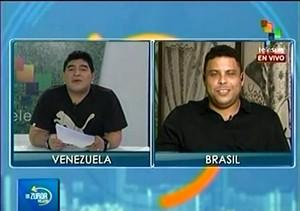 Ronaldo e Maradona, Entrevista (Foto: Reprodução)
