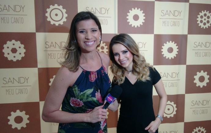 Camille Reis conversou com Sandy  (Foto: Mistura/RBS TV)