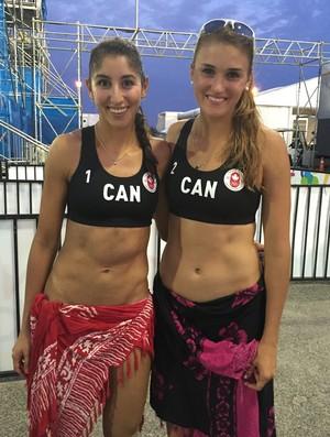 Taylor Pischke Melissa Humana-Paredes vôlei de praia Canadá Pan de Toronto (Foto: GloboEsporte.com)