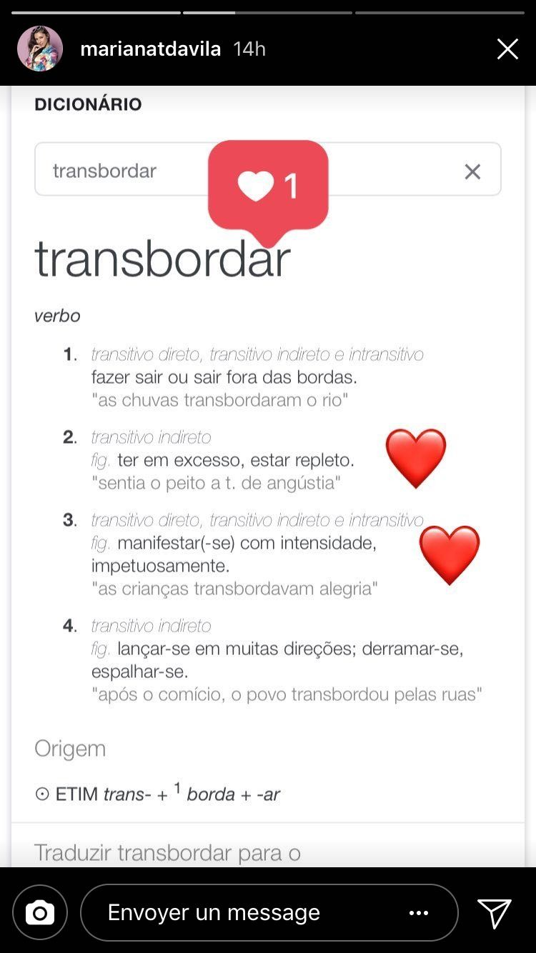 Só love: post de Mariana nos Stories no dia do aniversário de Caio Castro (Foto: Reprodução/Instagram)