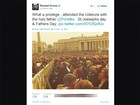 Russell Crowe vai a missa do Papa Francisco no Vaticano