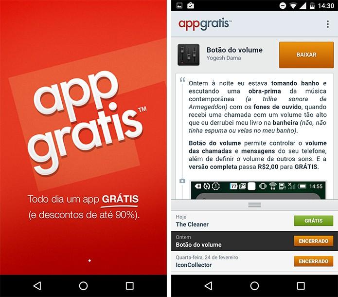 AppGrátis é outra opção que oferece um app pago por dia. (Foto: Reprodução/Alessandro Junior)