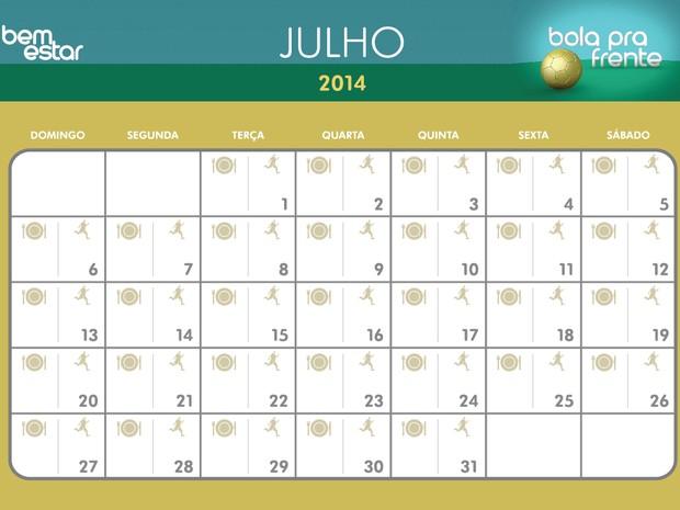 Calendario Fisico.Bem Estar Imprima O Calendario Para Organizar Sua Rotina