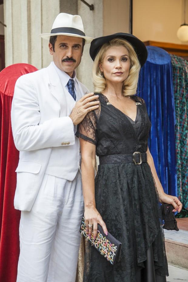 Ernesto (Eriberto Leão) e Sandra (Flavia Alessandra): os vilões de Êta Mundo Bom (Foto: Globo/Sergio Zalis)