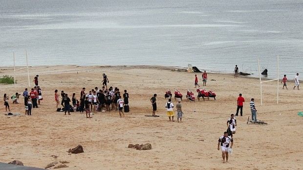 Beach Rugby (Foto: Adeilson Albuquerque/GLOBOESPORTE.COM)