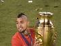 Em alta após títulos, meia Vidal diz que Chile é a melhor seleção do mundo