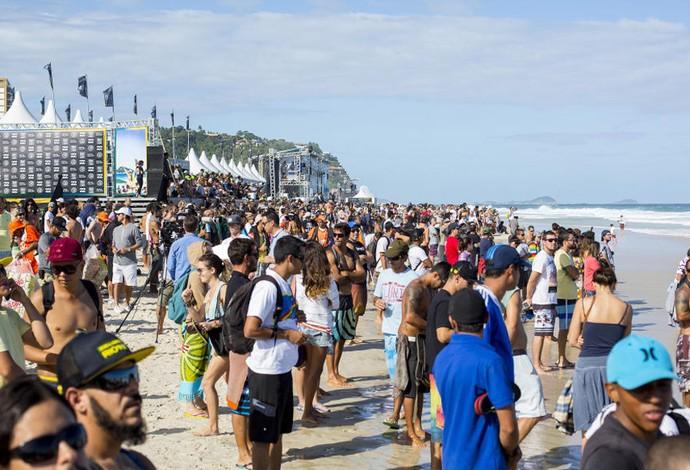 Surfe - WCT Rio de Janeiro - público presente (Foto: ASP/Kirstin Scholtz)