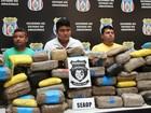 Colombianos e amazonense são presos com 108 kg de maconha