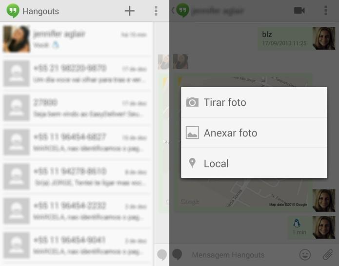 Hangouts traz novidades para os usuários na versão 2.5.0 (Foto: Reprodução/Marcela Vaz)
