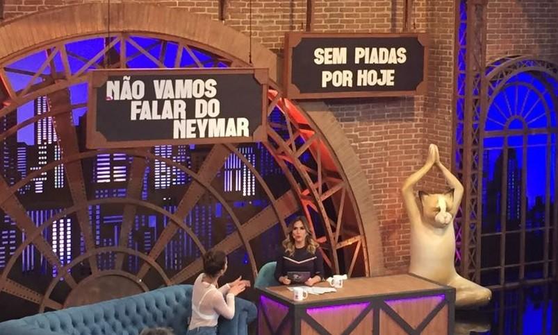 No quadro 'No vamos falar sobre Neymar', s perguntas sobre... Neymar (Foto: Multishow)