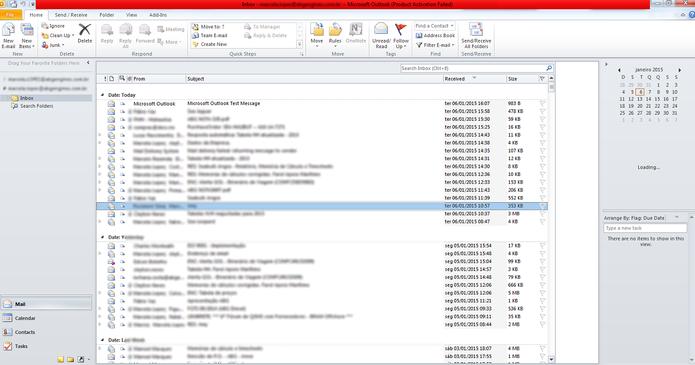 7 - Microsoft Outlook (Foto: reprodução/Marcela Vaz)