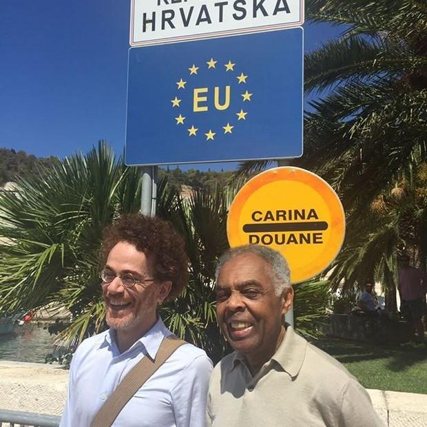 Nando Reis e Gilberto Gil (Foto: reprodução/instagram)
