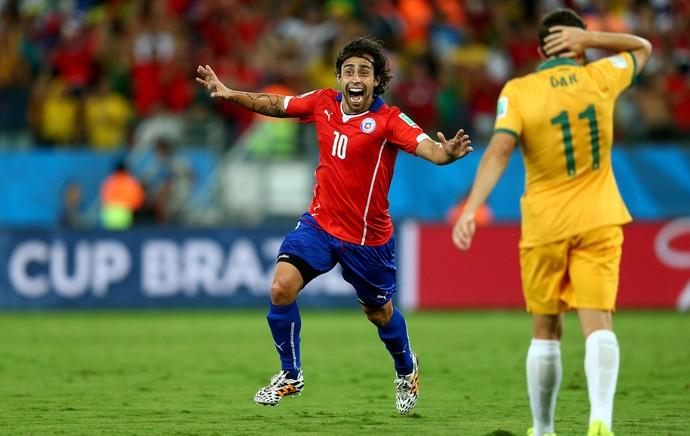 Valdívia Chile x Austrália Arena Pantanal (Foto: Reuters)