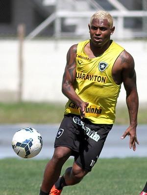 Treino do Botafogo, Jobson (Foto: Vitor Silva / SSPress)