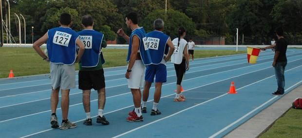 Teste de árbitros paraibanos para o quadro da CBF (Foto: Lucas Barros / Globoesporte.com/pb)