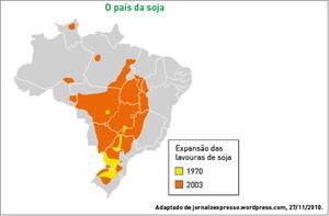 Expansão das lavouras de soja (Foto: Reprodução/UERJ)