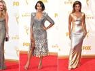 Emmy 2015: Famosas apostam em looks metalizados e cheios de brilhos