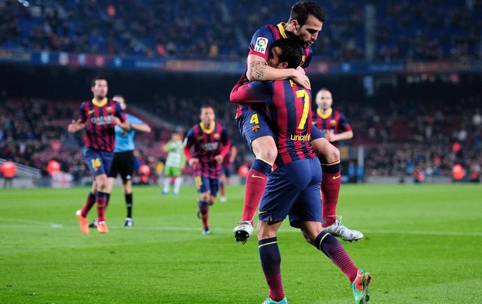 Fábregas e Pedro Barcelona (Foto: AFP)