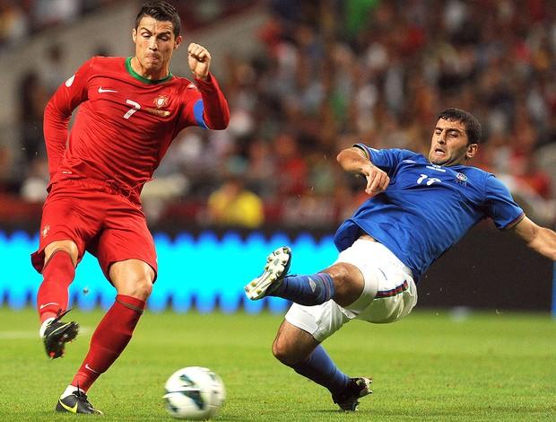 Cristiano Ronaldo, Portugal x Azerbaijão (Foto: Agência AP)
