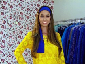 Empresários investiram em roupas da moda com as cores do Brasil (Foto: Luciano Tolentino/ EPTV)