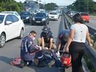 Acidente entre motocicleta e carro deixa pelo menos um ferido na PB