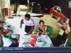 Vídeo mostra família sendo assaltada em frente a casa onde mora, no AP