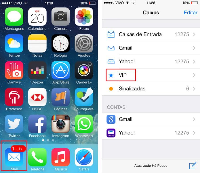 Configuração de mensagens VIP no mail do iOS 7 (Foto: Aline Jesus/Reprodução)