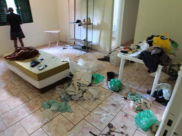 Chácara no Recreio das Acácias em Ribeirão Preto, SP, foi revirada por suspeitos (Foto: F.L. Piton/A Cidade)