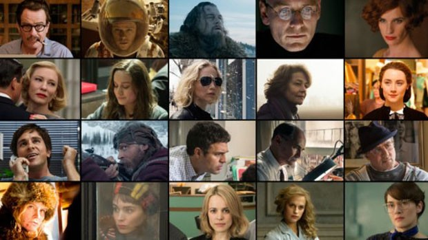Indicados nas categorias de atuação; ausência de diversidade racial despertou críticas (Foto: BBC/Divulgação)