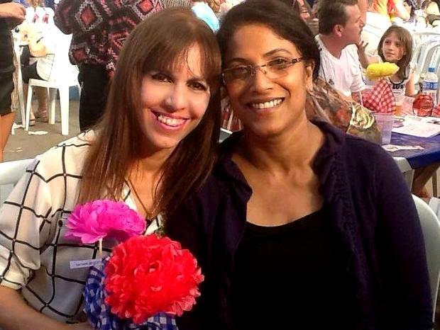 A indiana Bindu Thomas foi uma das estrangeiras atendidas pela personal friend de Piracicaba (Foto: Elaine Medeiros/ Arquivo Pessoal)