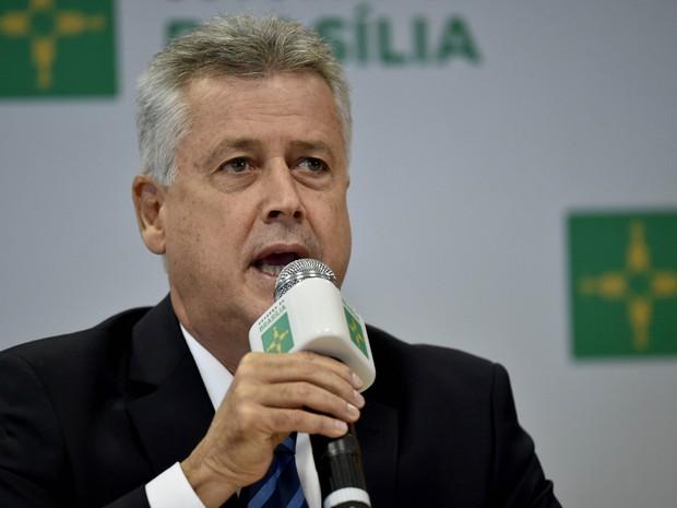 Governador do DF, Rodrigo Rollemberg, durante coletiva de imprensa no Palácio do Buriti (Foto: Andre Borges/Agência Brasília)
