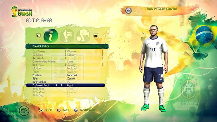 Copa do Mundo Fifa 2014: aprenda a editar jogadores (Foto: Reprodução/Murilo Molina)