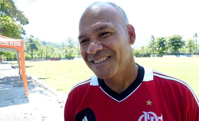 Marcelo Buarque no treino do Flamengo (Foto: Vicente Seda)
