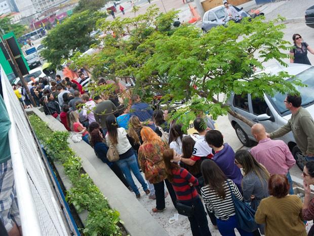 Visitantes fizeram fila para entrar no evento (Foto: Flávio Moraes/G1)