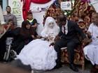 Primeiro casamento em uma escola da ONU leva alegria aos palestinos