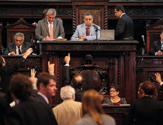 Jorge Picciani (PMDB) na Alerj (Foto:  Márcio Alves / Agência O Globo)