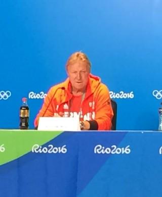 Horst Hrubesch técnico da Alemanha (Foto: Carlos Augusto Ferrari)
