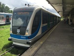 VLT em sua primeira circulação (Foto: Everaldo Ricardo/CBTU João Pessoa)