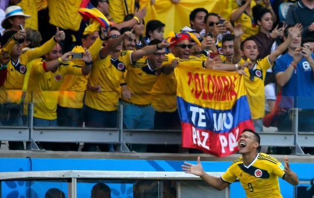 teofilo gutierrez colombia x grecia mineirão (Foto: Reuters)