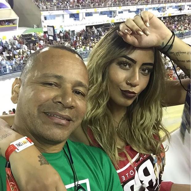 Rafaella Santos com o pai Neymar (Foto: Instagram / Reprodução)