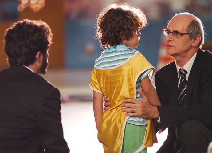 Marcos Caruso interpretava o avô do personagem de Gabriel, em 'Páginas da Vida' (Foto: TV Globo)