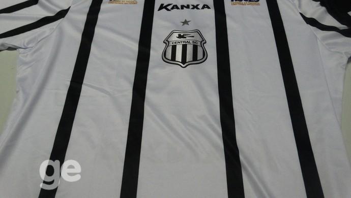 Camisa número dois do Central para Série D (Foto: Lafaete Vaz / GloboEsporte.com)