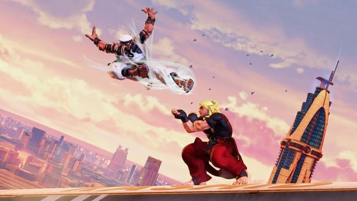 Novo mapa de Street Fighter 5 se passa em cima de um avião em movimento (Foto: Divulgação/Capcom)
