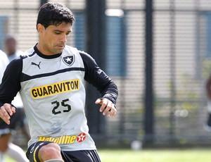 Renato no treino do Botafogo (Foto: Marcos Trisão / Ag. O Globo)
