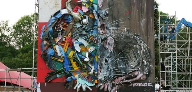 BordaloII-artista-portugûês-escultura-lixo-rato (Foto: Divulgação)